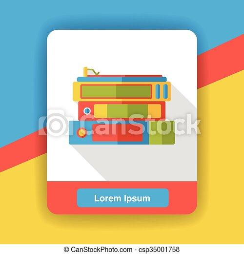 office files flat icon - csp35001758