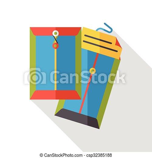 office files flat icon - csp32385188