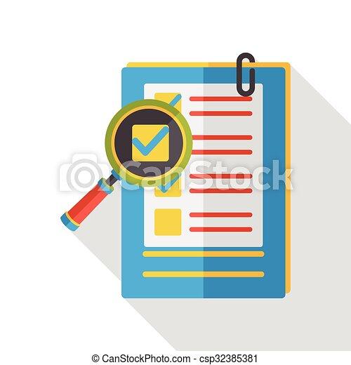 office files flat icon - csp32385381