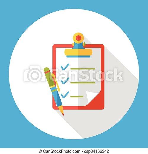office files flat icon - csp34166342