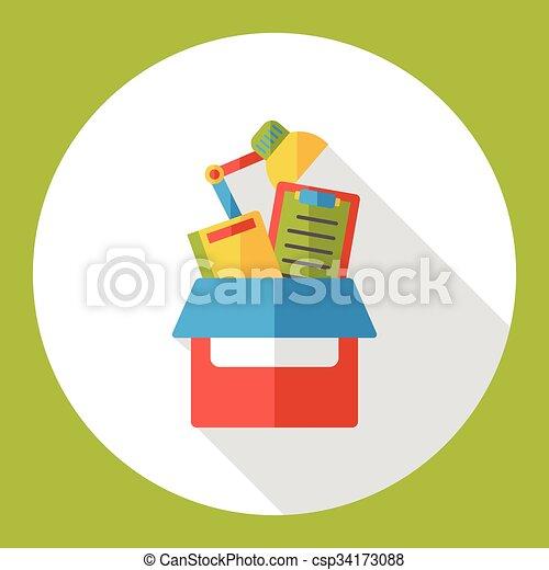 office files flat icon - csp34173088
