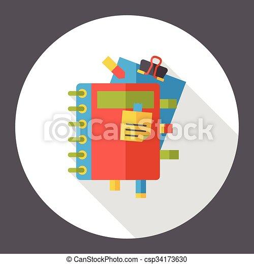 office files flat icon - csp34173630