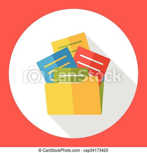 office files flat icon - csp34173420