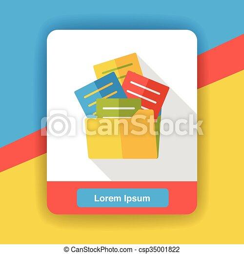 office files flat icon - csp35001822