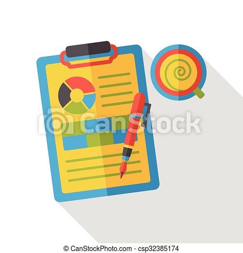 office files flat icon - csp32385174