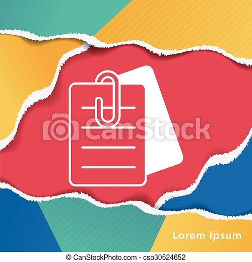 office files icon - csp30524652