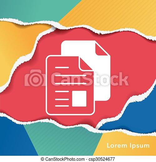 office files icon - csp30524677
