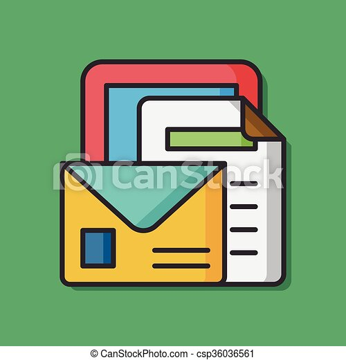 office files paper icon - csp36036561