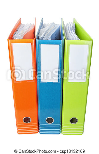 Office folders with documents.  - csp13132169
