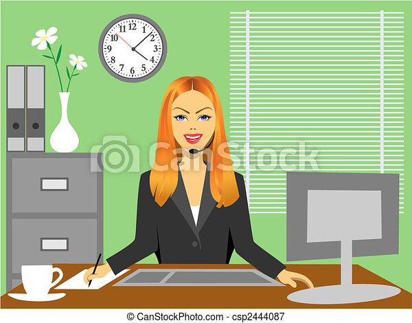Office Girl - csp2444087