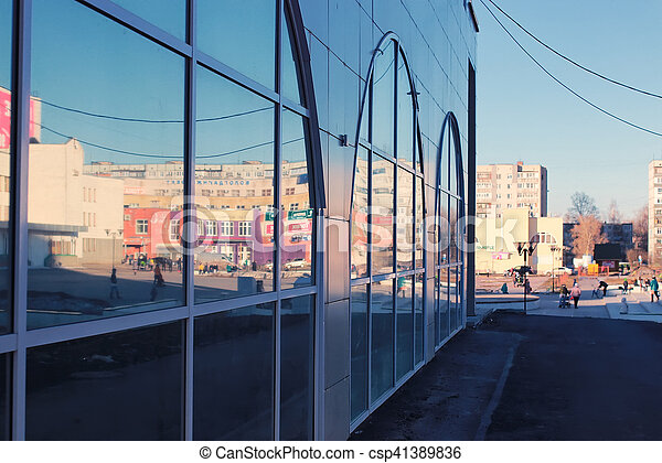 office glass building - csp41389836