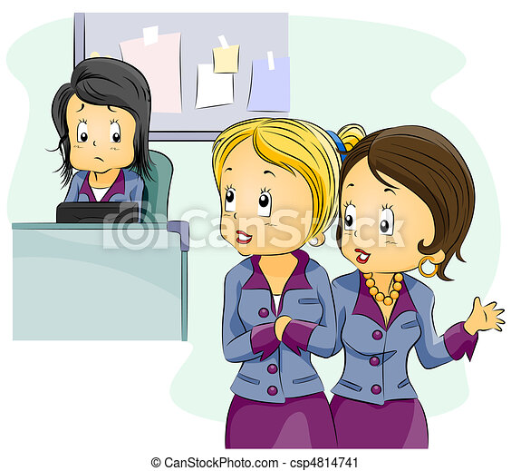 office gossip illustration featuring employees gossiping rh canstockphoto com workplace gossip clipart Gossip Cartoon