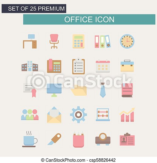 Office icons set - csp58826442