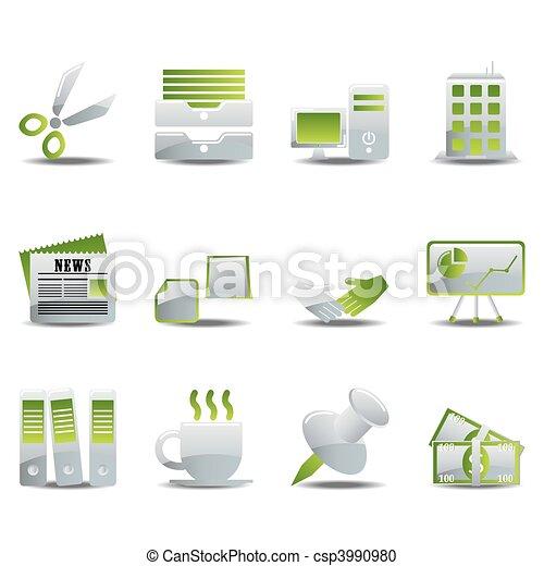 Office icons set - csp3990980