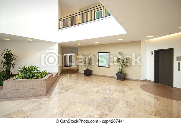 Office lobby entrance - csp4287441