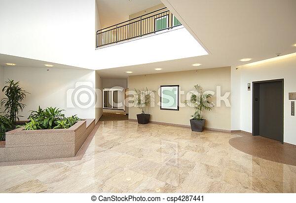 Office lobby entrance - csp4287441