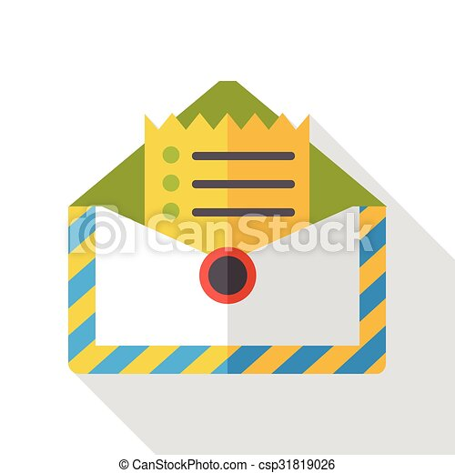 office mail flat icon - csp31819026