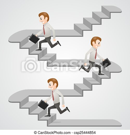 Office man in a hurry - csp25444854