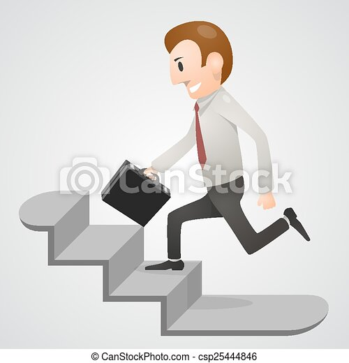 Office man in a hurry - csp25444846