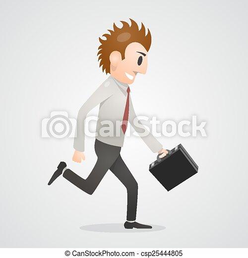 Office man running - csp25444805