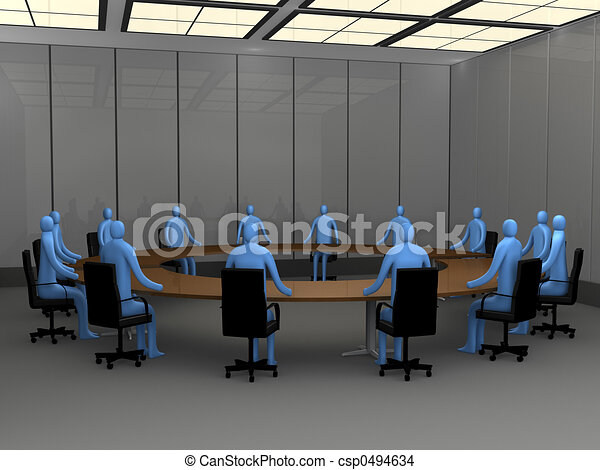 Office Moments - Meeting Room - csp0494634