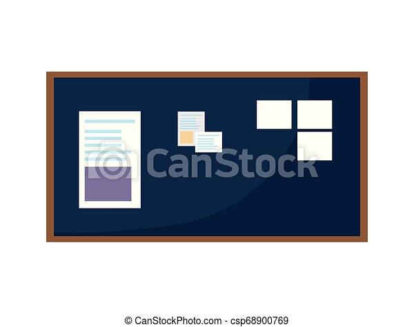 Office notes board icon vector illustration design.