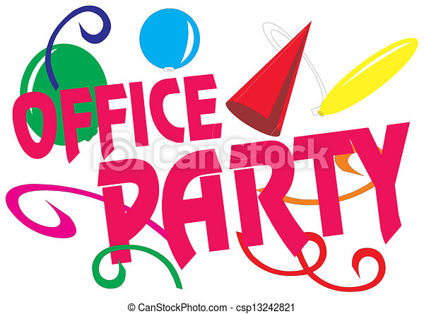 Office Party Vector Illustration