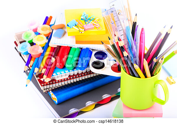office stationary back to school concept office stationary