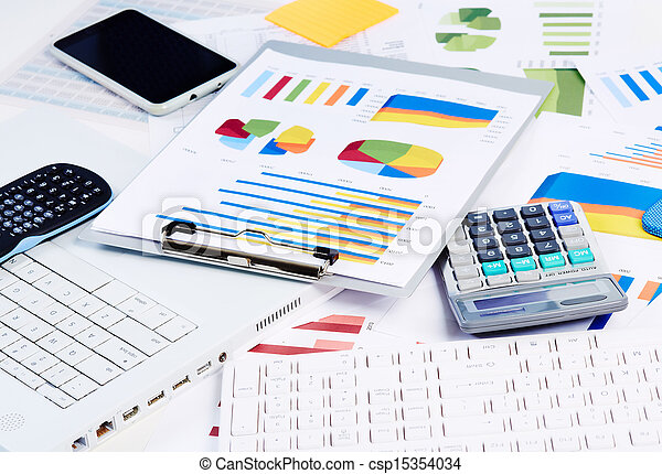 Office stationery objects. - csp15354034