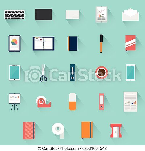Office supplies objects - csp31664542