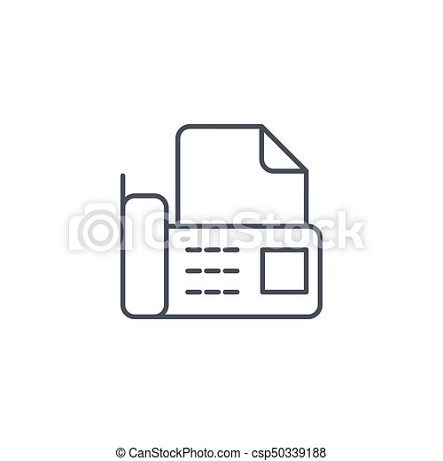 Office telephone fax digital phone document thin line icon linear office telephone fax digital phone document thin line icon linear vector symbol sciox Gallery