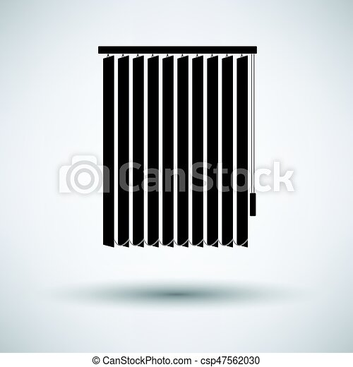 Office Vertical Blinds Icon On Gray Background Round