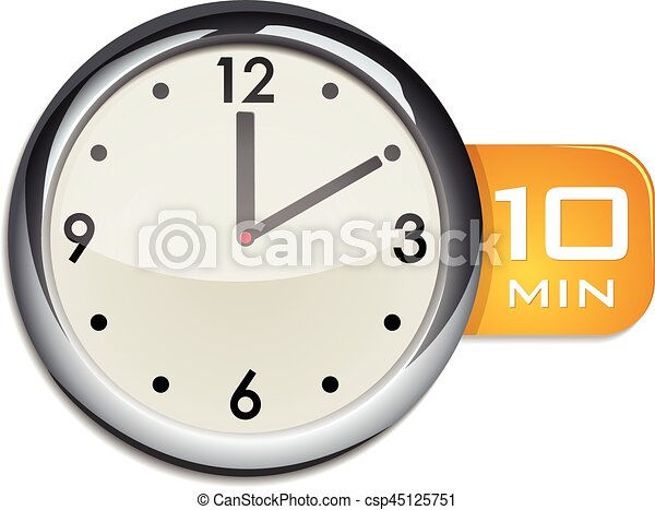 office wall clock timer 10 minutes csp45125751