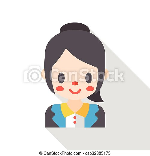 office worker flat icon - csp32385175