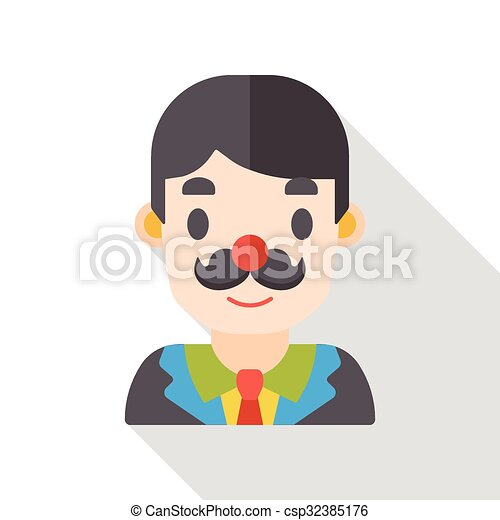 office worker flat icon - csp32385176