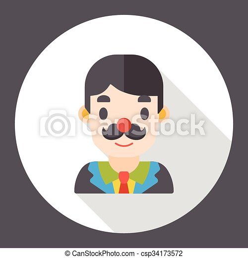 office worker flat icon - csp34173572