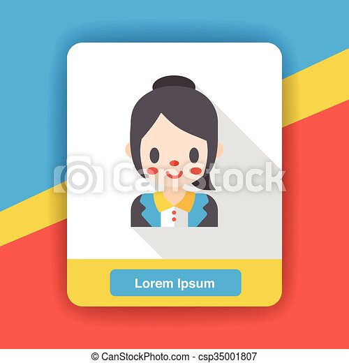 office worker flat icon - csp35001807