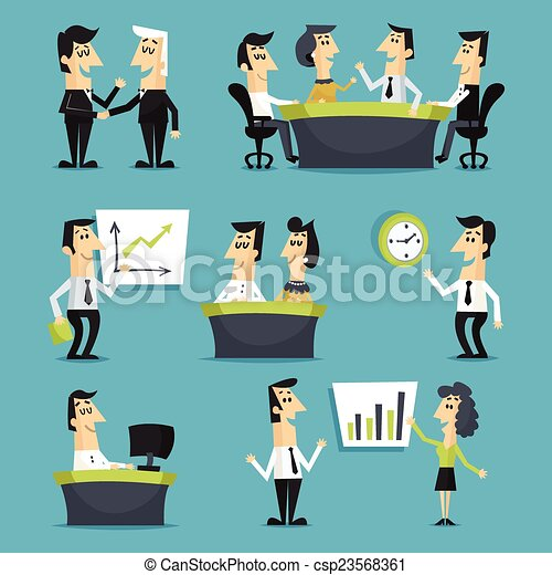 Office workers flat - csp23568361