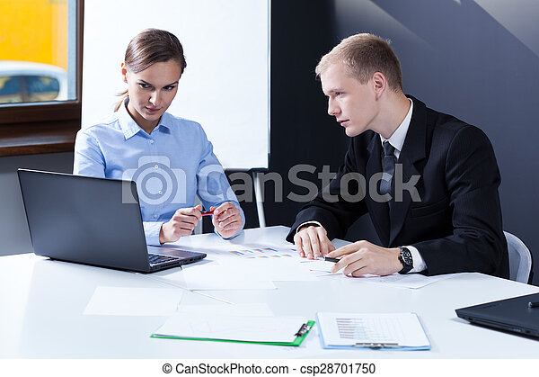 Office workers sitting  - csp28701750