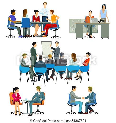 office.eps, ミーティング, コース - csp84367631