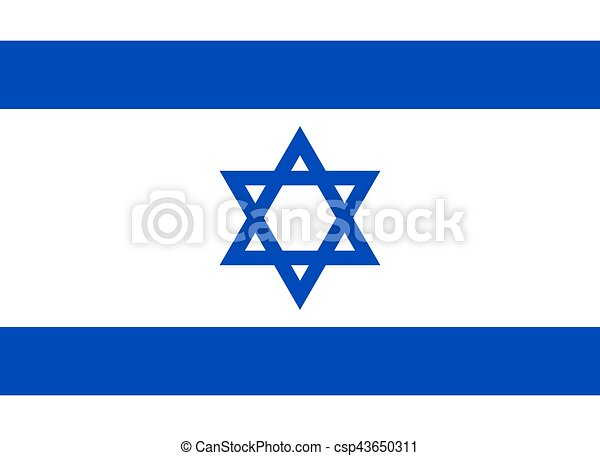 Official Israel flag - csp43650311