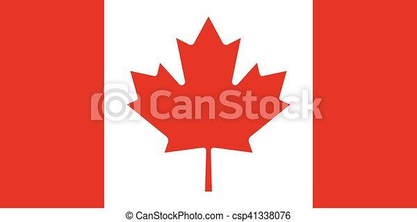 Official vector flag of Canada . - csp41338076