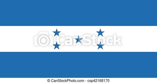 Official vector flag of Honduras . Republic of Honduras . - csp42168170