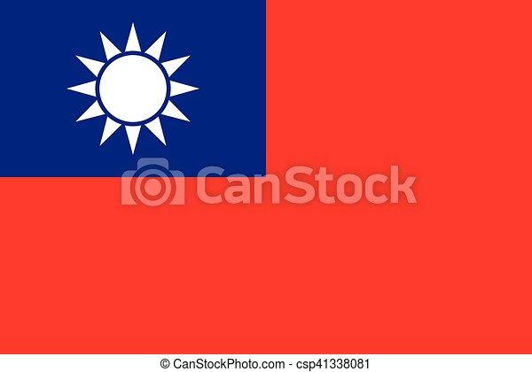 Official vector flag of Taiwan . - csp41338081