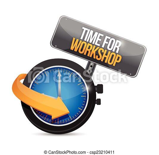 officina, tempo, illustrazione, segno - csp23210411