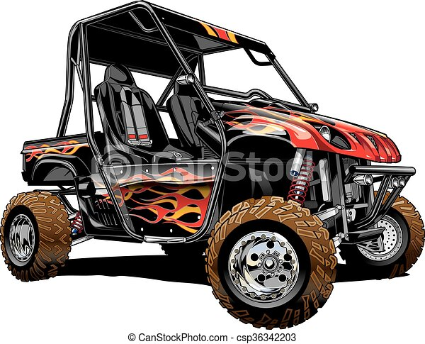 offroad side by side atv rhino side by side custom paint offroad rh canstockphoto com atv clipart vector atv clip art free