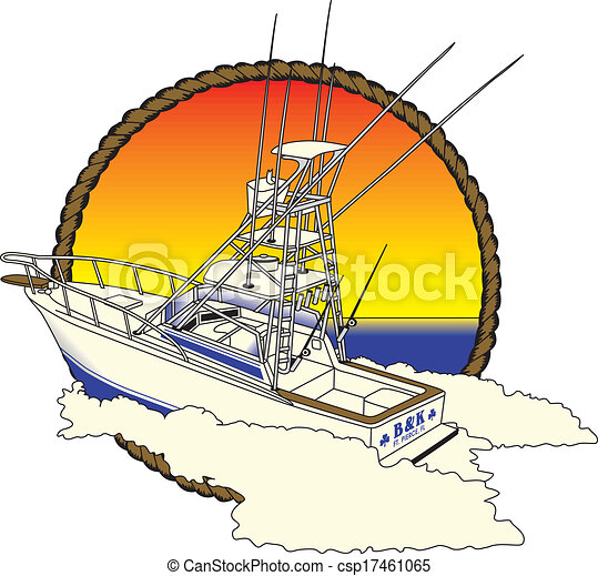Offshore Boad, Fishing - csp17461065