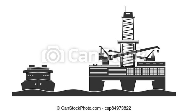 Offshore oil platform - csp84973822