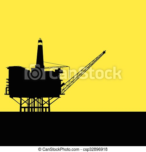 Offshore Refinery - csp32896918