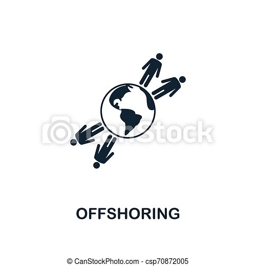 Offshoring icon. Creative element design from business strategy icons collection. Pixel perfect Offshoring icon for web design, apps, software, print usage - csp70872005